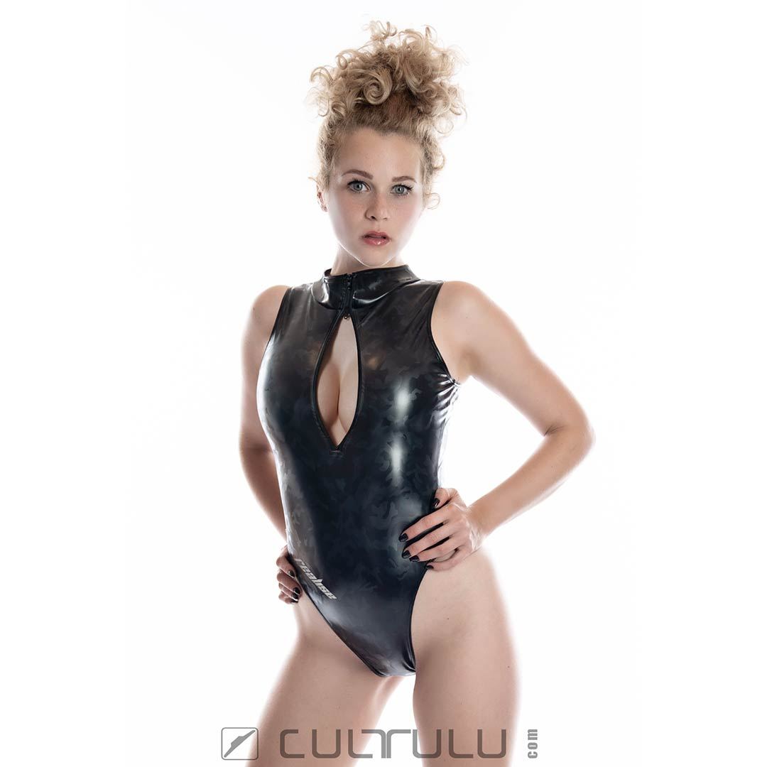 Realise rubberized camouflage swimsuit N996