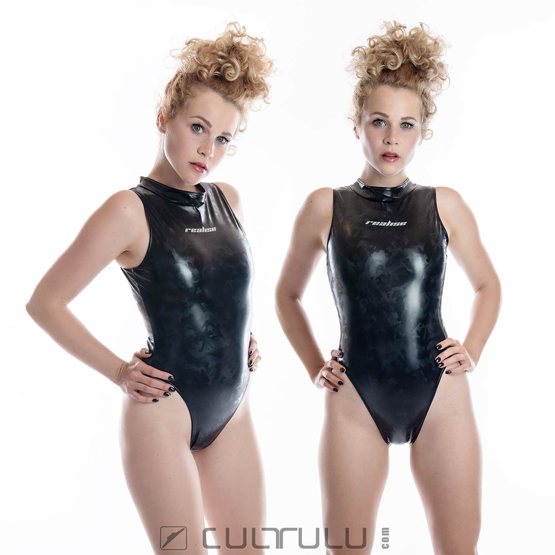 Realise rubberized camouflage swimsuit N997
