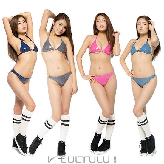 Poolsider rubberized Bikini BK001